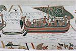 Harold steers ship across channel, a scene from the Bayeux Tapestry, Bayeux, Normandy, France, Europe Stock Photo - Premium Rights-Managed, Artist: Robert Harding Images, Code: 841-02901453