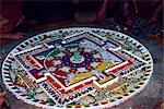 Mandala of coloured powders, Shanka Gompa, Leh, Ladakh, India, Asia Stock Photo - Premium Rights-Managed, Artist: Robert Harding Images, Code: 841-02901974