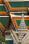 Detail of decoration and tiles on the roof of the Royal Palace in Bangkok, Thailand, Southeast Asia, Asia