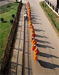Monks collecting alms, Chiang Mai, Thailand, Southeast Asia, Asia Stock Photo - Premium Rights-Managed, Artist: Robert Harding Images, Code: 841-02902544