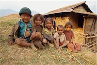 Portrait of young children, Gandruk, Nepal, Asia Stock Photo - Premium Rights-Managednull, Code: 841-02903165