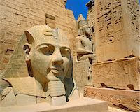 egyptian hieroglyphics - Statue of Ramses II and Obelisk, Luxor Temple, Luxor, Egypt, North Africa Stock Photo - Premium Rights-Managednull, Code: 841-02903339