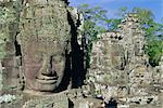 Myriad stone heads typifying Cambodia, the Bayon Temple, Angkor, Siem Reap, Cambodia, Indochina, Asia Stock Photo - Premium Rights-Managed, Artist: Robert Harding Images, Code: 841-02903381