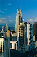 City skyline including the Petronas Building, the world's highest building, Kuala Lumpur, Malaysia Stock Photo - Premium Rights-Managednull, Code: 841-02903468