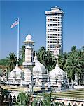 Exterior of the Masjid Jamek, or Friday Mosque, built in 1909, near Merdaka Square, Kuala Lumpur, Malaysia, Southeast Asia, Asia