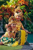 Portrait of two Legong dancers, Bali, Indonesia Stock Photo - Premium Rights-Managednull, Code: 841-02903490