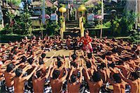 Men performing the famous Balinese 'Kecak' dance, Bali, Indonesia Stock Photo - Premium Rights-Managednull, Code: 841-02903506