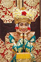 Portrait of a Legong Dancer, Bali, Indonesia Stock Photo - Premium Rights-Managednull, Code: 841-02903507