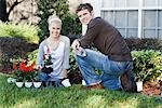 Couple Gardening Stock Photo - Premium Rights-Managed, Artist: Kevin Dodge, Code: 700-02912036