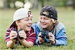 Little Boys Using Binoculars