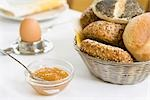 Bowl of Marmalade and Basket of Bread on Breakfast Table Stock Photo - Premium Rights-Managed, Artist: Klick, Code: 700-02912327