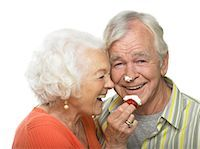 Portrait of Couple with Whipped Cream on their Faces Stock Photo - Premium Rights-Managednull, Code: 700-02912394