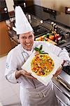 Chef Displaying Dish Stock Photo - Premium Rights-Managed, Artist: Brian Pieters, Code: 700-02912449