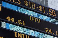 stock exchange building - Trading Board, Times Square, Manhattan, New York, New York, USA Stock Photo - Premium Rights-Managednull, Code: 700-02912890