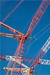 Looking Up at Cranes at Construction Site Stock Photo - Premium Rights-Managed, Artist: Rudy Sulgan              , Code: 700-02913167