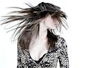 Close-up on woman swirling her long hair Stock Photo - Premium Rights-Managed, Artist: F1Online, Code: 853-02913592