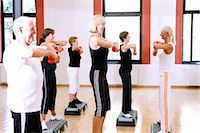 group  doing exercises Stock Photo - Premium Rights-Managednull, Code: 853-02913616
