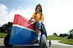 Boy sitting on soap box Stock Photo - Premium Rights-Managed, Artist: F1Online, Code: 853-02913711