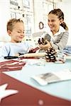 Two children doing crafts Stock Photo - Premium Rights-Managed, Artist: F1Online, Code: 853-02913810