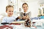 Two children doing crafts Stock Photo - Premium Rights-Managed, Artist: F1Online, Code: 853-02913811