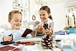 Two children doing crafts Stock Photo - Premium Rights-Managed, Artist: F1Online, Code: 853-02913812