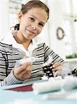 Girl doing crafts Stock Photo - Premium Rights-Managed, Artist: F1Online, Code: 853-02913818
