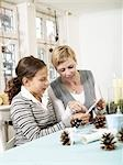 Mother and daughter doing crafts Stock Photo - Premium Rights-Managed, Artist: F1Online, Code: 853-02913819