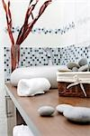 washbasin and towels Stock Photo - Premium Rights-Managed, Artist: F1Online, Code: 853-02914133