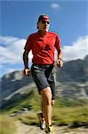 person jogging, Trentino Alto Adige italy Stock Photo - Premium Rights-Managed, Artist: F1Online, Code: 853-02914154