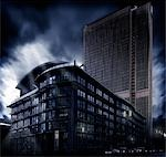 Skyscraper at night, low angle view Stock Photo - Premium Rights-Managed, Artist: F1Online, Code: 853-02914173