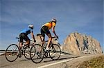 Two mountain bikers, Dolomites Stock Photo - Premium Rights-Managed, Artist: F1Online, Code: 853-02914209