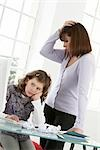 girl and her mother in front of a computer Stock Photo - Premium Rights-Managed, Artist: F1Online, Code: 853-02914290