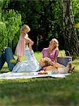 Family having picnic in park Stock Photo - Premium Rights-Managed, Artist: F1Online, Code: 853-02914299