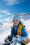 child playing in snow Stock Photo - Premium Rights-Managed, Artist: F1Online, Code: 853-02914398