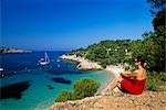 woman at Cala Salad, Ibiza, Spain Stock Photo - Premium Rights-Managed, Artist: F1Online, Code: 853-02914471