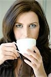 woman drnking tea, portrait Stock Photo - Premium Rights-Managed, Artist: F1Online, Code: 853-02914674