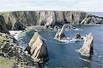Sea stacks in bay beside Aird Feinis, west coast, Isle of Lewis, Outer Hebrides, Western Isles, Scotland, United Kingdom, Europe Stock Photo - Premium Rights-Managed, Artist: Robert Harding Images, Code: 841-02915706