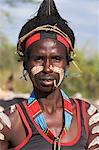 Hamer man, Hamer Jumping of the Bulls initiation ceremony,Turmi, Lower Omo valley, Ethiopia, Africa