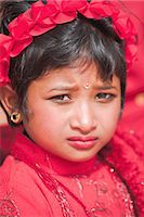 Portriat of a young girl, Kumari (Living Goddess festival), Durbar Square, Kathmandu, Nepal, Asia Stock Photo - Premium Rights-Managednull, Code: 841-02917289