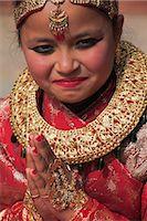 Girl at Kumari (living goddess) festival, Durbar Square, Kathmandu, Nepal, Asia Stock Photo - Premium Rights-Managednull, Code: 841-02917364