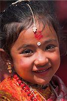 Girl at Kumari (living goddess) festival, Durbar Square, Kathmandu, Nepal, Asia Stock Photo - Premium Rights-Managednull, Code: 841-02917365