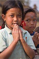 Village children, Sikles trek, Pokhara, Nepal, Asia Stock Photo - Premium Rights-Managednull, Code: 841-02917541