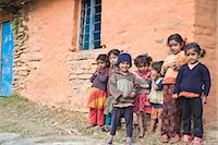 Village children, Sikles trek, Pokhara, Nepal, Asia Stock Photo - Premium Rights-Managednull, Code: 841-02917548