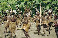 Yali people dancing at a ceremony, Membegan, Irian Jaya (West Irian) (Irian Barat), New Guinea, Indonesia, Asia Stock Photo - Premium Rights-Managednull, Code: 841-02917581