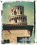 Polaroid Image Transfer of Leaning Tower of Pisa, Pisa,Tuscany, Italy, Europe Stock Photo - Premium Rights-Managed, Artist: Robert Harding Images, Code: 841-02918102