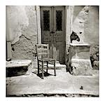 Polaroid of old chair outside building damaged by earthquake, Oia, Santorini, Cyclades, Greek Islands, Greece, Europe Stock Photo - Premium Rights-Managed, Artist: Robert Harding Images, Code: 841-02918107