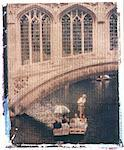 Polaroid Image Transfer of man punting tourists in traditional wooden boat (punt) on River Cam, Cambridge, Cambridgeshire, England, United Kingdom, Europe Stock Photo - Premium Rights-Managed, Artist: Robert Harding Images, Code: 841-02918118