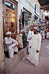 People gathered outside souk, Nizwa, Oman, Middle East Stock Photo - Premium Rights-Managed, Artist: Robert Harding Images, Code: 841-02918267