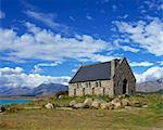 The Church of the Good Shepherd on the shores of Lake Tekapo in the South Island, New Zealand, Pacific Stock Photo - Premium Rights-Managed, Artist: Robert Harding Images, Code: 841-02920068