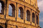 Detail of the Colosseum at sunset, Rome, Lazio, Italy, Europe Stock Photo - Premium Rights-Managed, Artist: Robert Harding Images, Code: 841-02920825